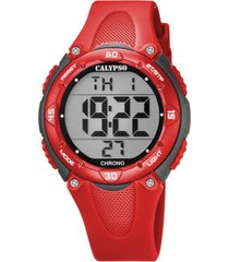 reloj digital crush rojo calypso