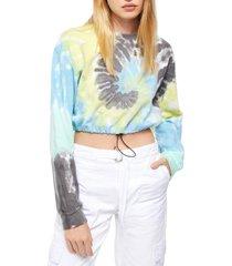 women's bdg urban outfitters tie dye crop sweatshirt