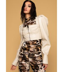 akira hot to go faux leather top