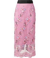 romance was born petit trianon beaded skirt - pink