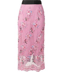 romance was born petit trianon beaded skirt - pink