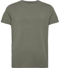 bamboo r-neck tee t-shirts short-sleeved grön resteröds