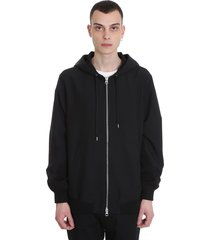 mauro grifoni casual jacket in black polyester