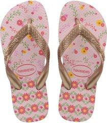 sandalias havaianas flores