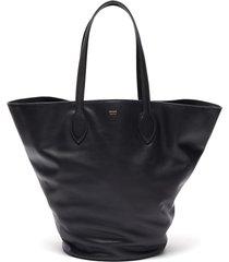 'osa' medium circular leather tote