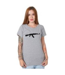 camiseta  stoned ak47 cinza