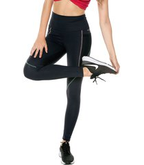 leggings negro-rosa-verde colcci fitness