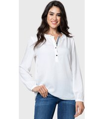 blusa nautica blanco - calce regular