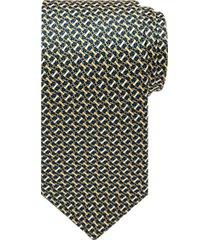 burma bibas gold & blue link pattern narrow tie