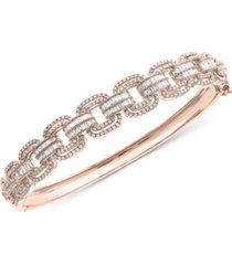 effy diamond bangle bracelet (1-3/4 ct. t.w.) in 14k rose gold
