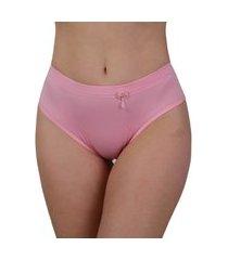 calcinha cintura alta vip lingerie elástico barra 25 rosa