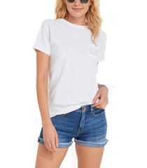 vineyard vines women's short sleeve whale graphic pocket tee, size x-small in white cap at nordstrom