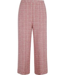be blumarine woven cropped trousers