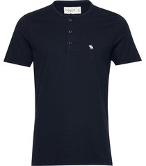 short-sleeve icon henley t-shirts short-sleeved abercrombie & fitch