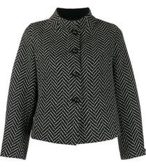 emporio armani jaqueta com padronagem chevron - preto
