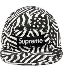 supreme washed chino twill camp cap - black