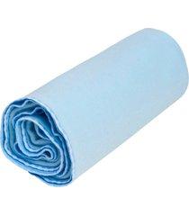 cobertor papi liso azul - kanui