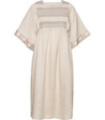 embroidered midi caftan dresses everyday dresses beige tory burch