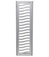 conjunto grelha e porta grelha em alumínio elegance 15x100cm alumínio