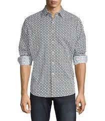 classic-fit geometric-print shirt