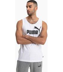 essentials tanktop voor heren, wit, maat l | puma