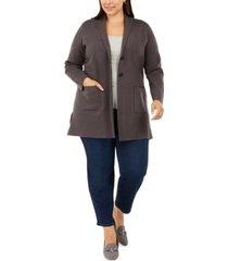 charter club plus size sweater blazer, created for macy's