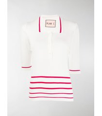 plan c striped polo shirt