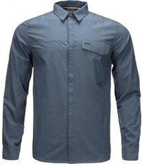 camisa alloy long sleeve azul lippi