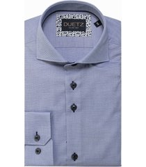 duetz1857 duetz 1857 dress overhemd blauw dessin