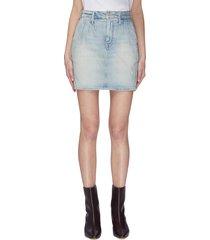 'the double dart' denim mini skirt