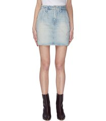 'the double dart' denim mini skirt
