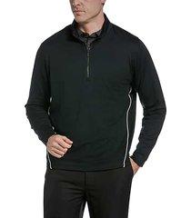 callaway men's swingtech classic fit lightweight fleece 1/4 zip golf sweater black - size: small