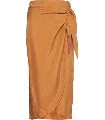 skirt w. bow detail knälång kjol brun coster copenhagen