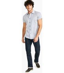 crwth men's twin engine classic-fit geo-print shirt