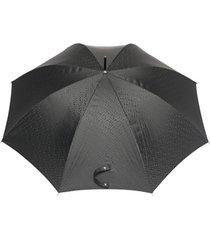 burberry guarda-chuva com monograma estampado - preto