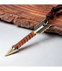 vintage arrow ciondolo in pelle collane punk accessori da uomo regalo per uomo