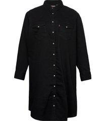 plus western dress black book korte jurk zwart levi's plus
