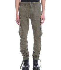 amiri pants in green cotton