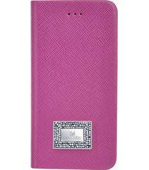 custodia a portafoglio per smartphone con bordi protettivi, iphoneâ® 7 plus, rosa