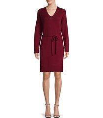 wool-blend knit dress