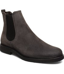 cast crepe chelsea suede shoes chelsea boots grå royal republiq