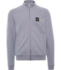 belstaff zip through sweatshirt | grey melange | 71130631-gry