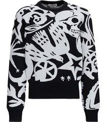 alexander mcqueen skull wool sweater