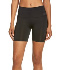 nike essential swim shorts, size small in black at nordstrom