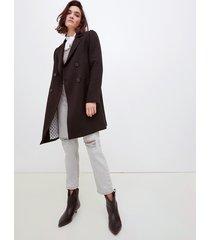 motivi cappotto doppiopetto misto viscosa donna nero
