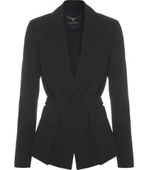 blazer feminina carine faixa - preto