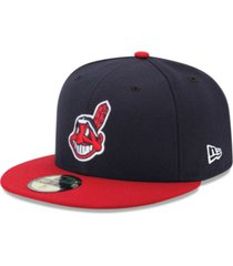 new era kids' cleveland indians authentic collection 59fifty cap