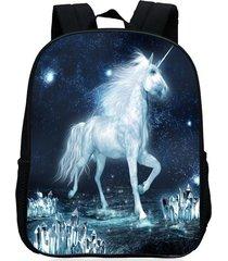 mochila/ escolar unicorn print-blanco