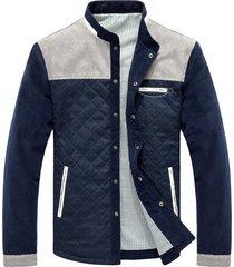 chaqueta casual universitaria hombres mj100 azul gris