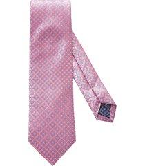 men's eton medallion silk tie, size regular - pink